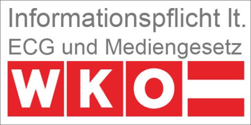 Informationspflicht lt ECG und Mediengesetz